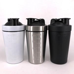 Strato di acciaio inossidabile Agitare Coppa singolo fitness proteine in polvere di miscelazione della proteina Shaker Cup non-isolamento bottiglia Polvere Sport acquatico