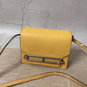 Moda sacos de ombro amarelo 17CM 23CM mulheres sacos New cor real e genuíno couro Bags Totes Bolsas Corpo Cruz