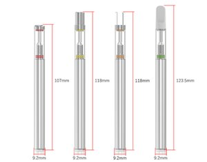 Bub D1s jetable Vape Pen 0,5ml vide Vape Pen Cartouches 310mAh Vape batterie céramique Réservoirs de verre Coil Stylos en verre goutte à goutte Vaporizer Conseils
