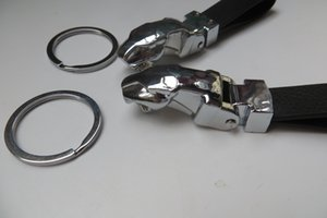 Moda Yüksek Kalite Erkekler Jaguar Anahtarlık Deri Metal Leopar Başkanı Araba Anahtarlık Hediyeler Kişiselleştirilmiş