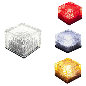 Outdoor lighting solar lawn lamp simulation ice cube light night lamp garden plaza wedding party decoration lighting