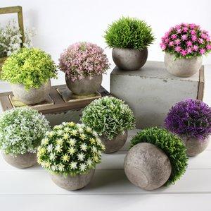 Falso fiore erba palla 16 stili pe plastica bonsai fiori artificiali simulazione verde pianta ripristino antichi modi arredamento per la casa13cje1