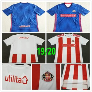 2019 2020 Sunderland AFC Soccer Jerseys 9 WEMBLEY STEELE GRABBAN MIKA DEFOE BORINI Custom 19 20 Home Away Red White Blue Football Shirt