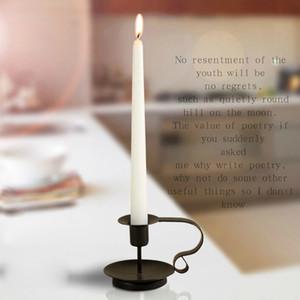 Fique Candle Holder retro estilo clássico olhar Taper Castiçal Ferro Candlestick Estilo Europeu