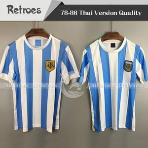 978 1986 아르헨티나 축구 유니폼 레트로 버전 86 78 홈 마라 도나 품질 Camisetas 드 축구 셔츠