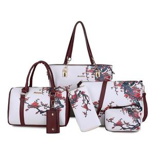 Europa ed i modelli di esplosione degli Stati Uniti di nuovo modo PU Fiori signore Mother-in-law Bag casuale sei pezzi borsa diagonale borsa femminile