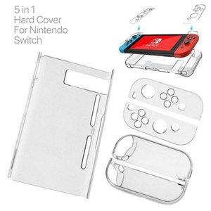 Harte PC-Schutz-Abdeckung für Nintend Schalter NS NX Fall transparenten Crystal Shell Console Controller Zubehör mit Ständern Cases