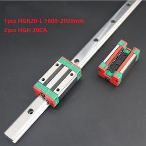 1pcs Original New HIWIN HGR20-1600mm 1700mm 1800mm 1900mm 2000mm linear guide rail+2pcs HGH20CA linear narrow blocks for cnc router parts