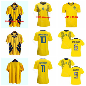 Hombres Mujeres 1994 Suecia 2018 Copa Mundial 2019 Fútbol 9 Kosovare Camiseta Asllani 5 Nilla Fischer 17 Camiseta de fútbol Caroline Seger Uniforme