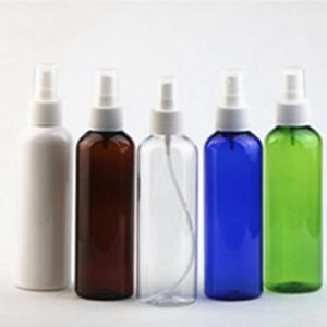 200 ml hombro redondo PET Spray botella de plástico Perfume Spray botella niebla fina maquillaje botellas se embotellan por separado EEA1208-2