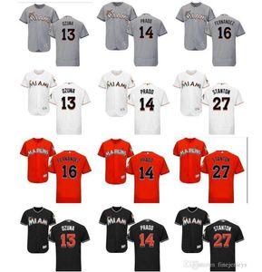 Donna Uomo personalizzato Miami Marlins bambini Jersey 14 Martin Prado 13 Marcell Ozuna 16 Jose Fernandez 27 Giancarlo Stanton baseball Jersey bene