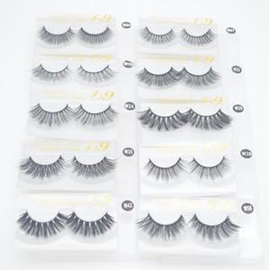 3D Mink Eyelashes Eye makeup Mink False lashes Soft Natural Thick Fake Eyelashes Eye Lashes Extension Reusable 10 styles 100 sets free DHL