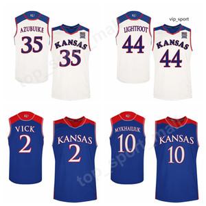Колледж Lagerald Vick Jersey Kansas Jayhawks Баскетбол Святослав Михайлюк 0 Маркус Гарретт Jerseys Team Малик Ньюман