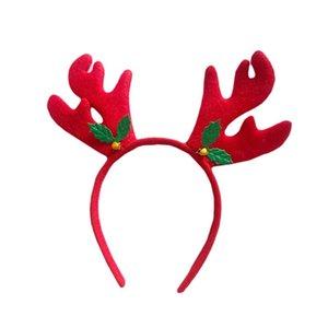 Maskeli Cosplay için Reindeer Antlers Noel Kafa Saç Bandı Headdress Şapkalar Saç Aksesuarı Hoop Fotoğraf aksesuvar