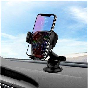 Беспроводное зарядное устройство для автомобиля премиум пакет Ци Быстрое беспроводное зарядное устройство лобовое стекло приборной панели Воздуховод телефона держатель для iPhone 8 11 про Примечание 10 плюс