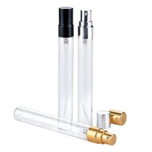 Alumínio Bico de perfume Frascos de 10ml Mini Spray Frasco transparente de vidro de amostra vazio Bottling fácil transporte viagem 0 9yr H1