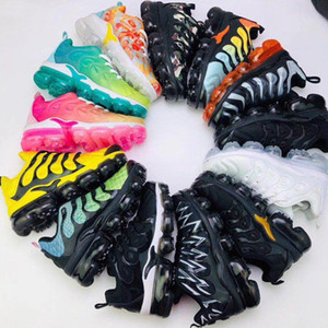 NIKE AIR VAPORMAX PLUS TN SHARK Zapatillas de correr para niños Triple negro Infantil Niños pequeños Zapatillas de deporte para correr niño niña zapatillas caqui negro Oro