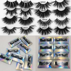 27mm 25mm 3D Vizon Kirpikleri Criss çapraz Yanlış Eyelashes Cruelty Free Cilt Vizon Kirpikler Dramatik Göz Makyajı Araçlar kirpikleri kirpikleri