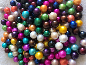 Tamaño 6pcs suelta perlas 9-11mm Edison en al azar de agua dulce perlas redondas de
