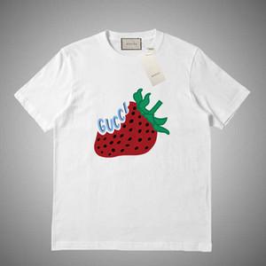 GUCCI Yüksek kaliteli moda designe kısa tişört Avrupa tarzı erkekler yuvarlak boyun tişört% 100 pamuk kısa kollu erkek giysileri # 695631