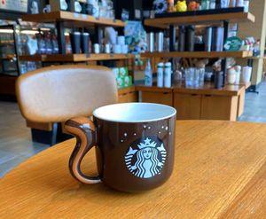 2017 Starbucks Korea Herbst Eichhörnchen Kaffeetasse 3D Stereoscopic Schwanz Brown Keramik Frühstück Tasse Desktop-Becher 12OZ