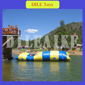 Frete grátis 8x3m Água inflável Jumping Catapult Blob PVC inflável Bouncers Pillow para Outdoor Fun Sports pessoal personalizado