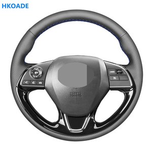 DIY Black Hige Soft Artificial Leather Car Steering Wheel Cover for Mitsubishi ASX Outlander Mirage 2020-2020 Eclipse (Cross)