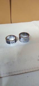 Neue Großhandelspreis-Qualitäts-Weit Männer Drip Öl-Ring-Größe 7/8/9 Sliver Farbe Brief Edelstahl Geschenke für Männer Frauen