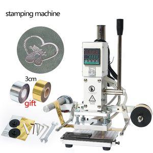 ZS90A DIY Digital Manual Paper PVC Card LOGO Leather Hot Foil Stamping Embossing Machine Heat Press Machine Punch Press