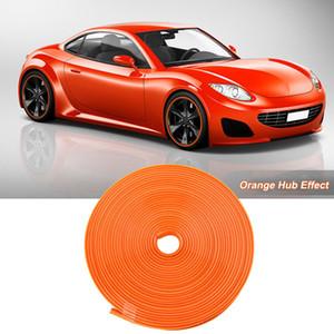 8M Auto Radnabe Felge Kantenschutz Ring Reifen Streifenschutz Gummi Aufkleber Orange