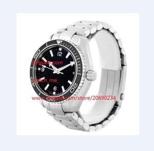 Бесплатная доставка Factory Maker Автоматическая 42mm черный циферблат часы Часы из нержавеющей стали Часы наручные 232.30.42.21.01.001 Mens мужские