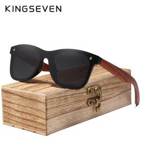Telaio Occhiali da sole Piazza KINGSEVEN 2019 Legno senza orlo polarizzati degli uomini Occhiali da sole donne Occhiali da sole maschile Masculino