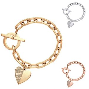 women alloy pendant set with diamond bracelet newest high quality gift