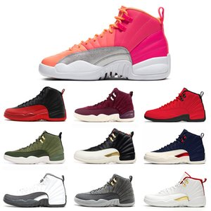 Top 12 12s hombres zapatos de baloncesto juego de la Universidad Real de FIBA oro REPTIL CALIENTE PUNCH TAXI gris oscuro Alas instructor para hombre de las zapatillas de deporte Deportes 7-13