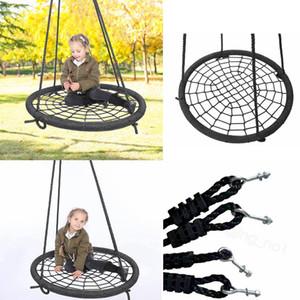nido de swing silla colgante de interior cuerda de tejido en malla de juguete asiento para niños Swing Kids juguetes de juego al aire libre del envío de los niños FFA mar pájaro
