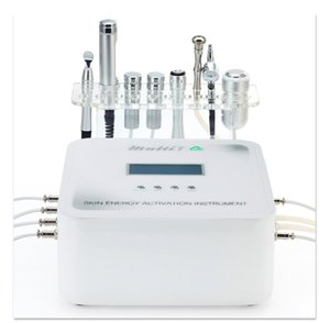 7 in1 multi funzione della pelle di energia strumento di attivazione Micro attuale viso Rf Diamante microdermoabrasione Spray Ossigeno macchina