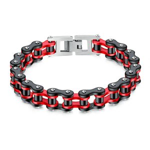 hot sale punk style bicycle chain bracelet Charm men's hip hop wild stainless steel locomotive bracelet jewelry for party