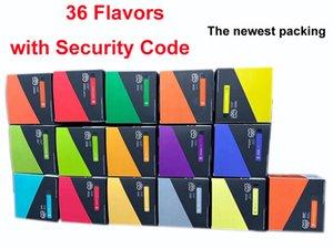 Cartucho de calidad superior del soplo, más desechable 36 nuevos sabores dispositivo Starter Kit de batería 550mAh 3,2 ml de Vape Vacío Pen Código de Seguridad Con