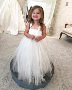 Pretty Beaded Belt Flower Girl Dresses Kids Floor Length Ball Gowns vestidos de comunion Custom Made