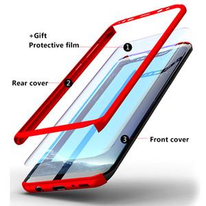 Samsung Galaxy S5 S6 S7 S8 S9 Plus 참고 3 4 5 8 9 360도 전체 보호 전화 케이스 유리 커버