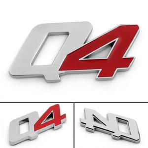 Areyourshop voiture métal Pare-chocs Trunk Grill Q4 Emblem Decal Badge autocollant rouge CHR Fit Maserati Car Auto Parts Accessoires