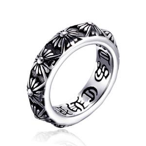 Moda uomo punk vintage retrò anello croce anello freddo in acciaio inox lettera stampa anello titanio gioielli gioielli maschili gotici gioielli hip hop dropshipping