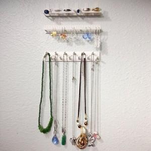 Adesiva Jóias gancho de armazenamento, Colar Brinco Hanger Organizer Titular Wall Mount jóias em rack Fixo Hooks C