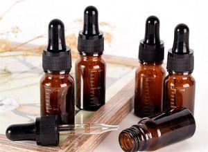 New Health 10 ml grado mark Amber Glass Dropper Riutilizzabile Tea Tree Oil Essenziale aromaterapia Contenitore di liquido bottiglia di profumo pipetta