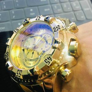Gute Qualität Invicta-Mann-Uhr-Edelstahl-Bügel-Uhr-Quarz-Armbanduhr-Relogies für Männer Uhren Besten Geschenk