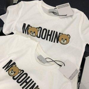 Kids Fashion Boys White Tshirt Tops Tees Cotton Short Sleeve Cartoon Bears Style Girls Clothes Kid T-shirt for Children 24M-6T T200511