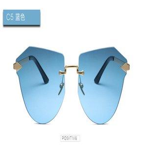 Arrow Frameless gold Sunglasses YOOSKE Fashion Rimless Sunglasses Women Rectangle Sun Glasses Green Black Brown Eyewear Female cyv3l vrfAq