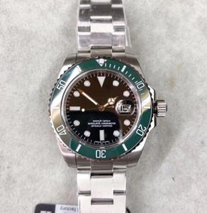 50 ° Fábrica U1 116610 Relojes para hombre de lujo Cerámica Bisel de zafiro de zafiro Automático Asiático 2813 Cierre de acero Reloj para hombre Envío gratis