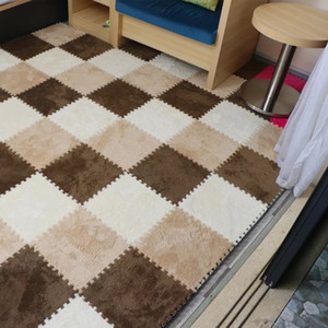36 Piezas no tóxico espuma alfombra de juego premium Grueso niños y los niños que entrelaza Puzzle Floor Tiles Niño alfombra de juego, Mats bebé para el rastreo