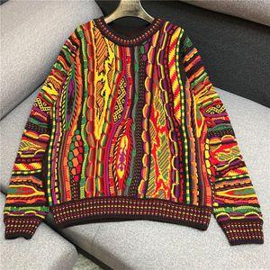 o-collo donne della molla nuove manica lunga modello colorato 3D geometrica ricamo gradiente colot Maglione migliori saltatori pullover